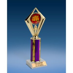 Martial Arts Sport Diamond Trophy 10""