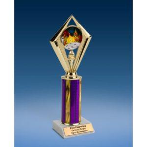"Prom King Sport Diamond Trophy 10"""