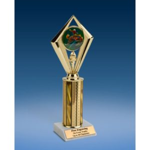 Rodeo Horse Sport Diamond Trophy 10""