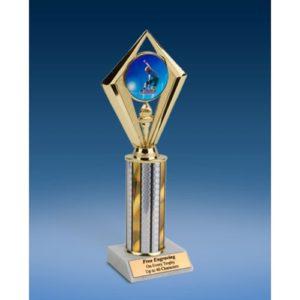 """Skateboarding Sport Diamond Trophy 10"""""""
