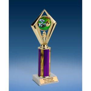"""Soccer 3 Sport Diamond Trophy 10"""""""