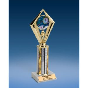 "Swimming Sport Diamond Trophy 10"""