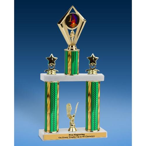"""1st Place Diamond 2 Tier Trophy 16"""""""