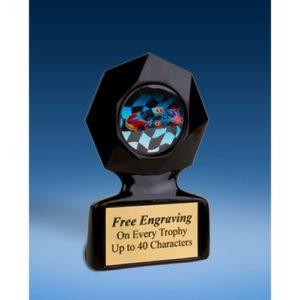 Racing Black Star Acrylic Trophy