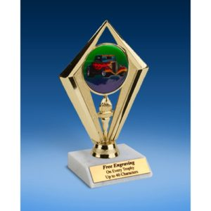 "Hot Rod Sport Diamond Trophy 6"""