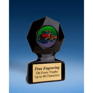 Hot Rod Black Star Acrylic Trophy