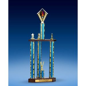 3rd Place Diamond Three-Tier Trophy 28""