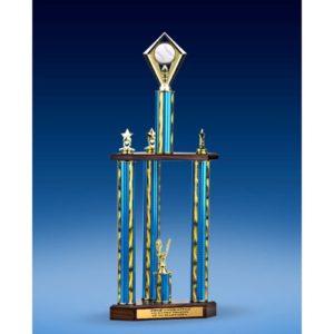 "Baseball Diamond Three-Tier Trophy 28"""