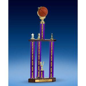 "Basketball Soft Spinner Three-Tier Trophy 28"""