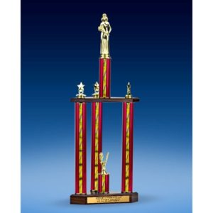 Beauty Queen Sport Figure Three-Tier Trophy 28""