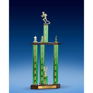 Football Sport Figure Three-Tier Trophy 28""