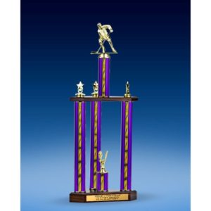 Hockey Sport Figure Three-Tier Trophy 28""
