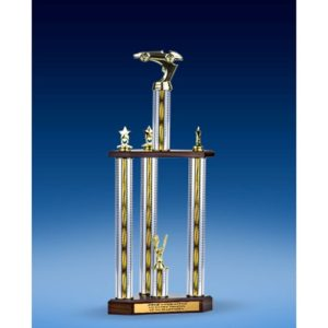 Racing Sport Figure Three-Tier Trophy 28""