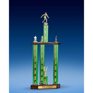 Soccer Sport Figure Three-Tier Trophy 28""