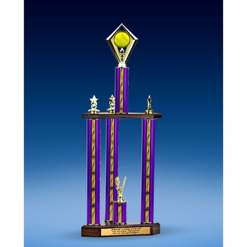Softball Diamond Three-Tier Trophy 28""