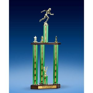 Track Sport Figure Three-Tier Trophy 28""