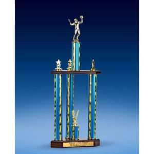 Volleyball Sport Figure Three-Tier Trophy 28""