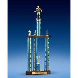 "Wrestling Sport Figure Three-Tier Trophy 28"""