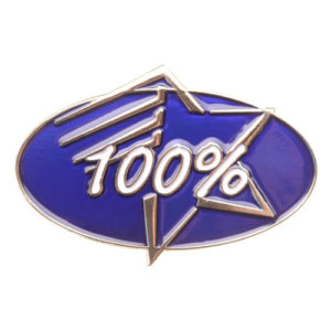 100% Achievement Pin