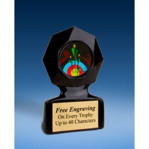 Archery Black Star Acrylic Trophy