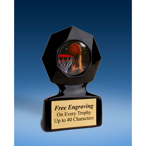 Basketball 2 Black Star Acrylic Trophy