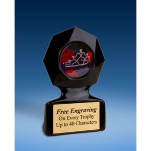 Beauty Pageant Black Star Acrylic Trophy
