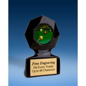 Billiards Black Star Acrylic Trophy