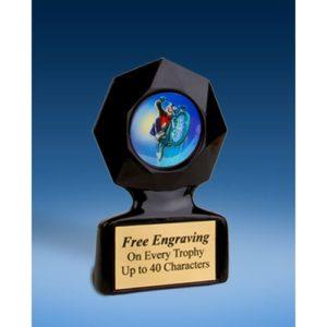 BMX Black Star Acrylic Trophy