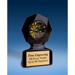 Darts Black Star Acrylic Trophy