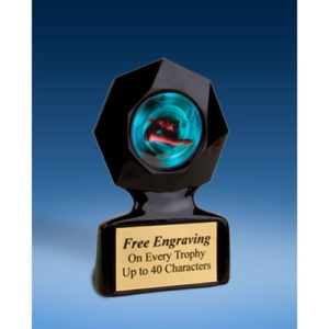 Diving Female Black Star Acrylic Trophy