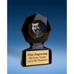 Drama Black Star Acrylic Trophy