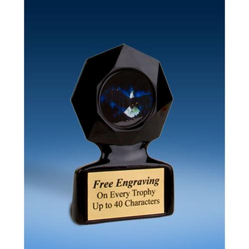 Eagle Black Star Acrylic Trophy