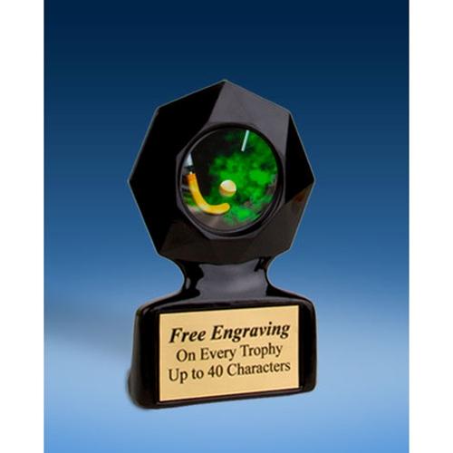 Field Hockey Black Star Acrylic Trophy