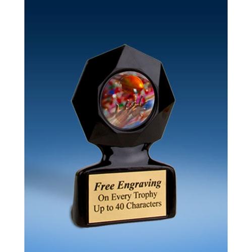 Football 2 Black Star Acrylic Trophy