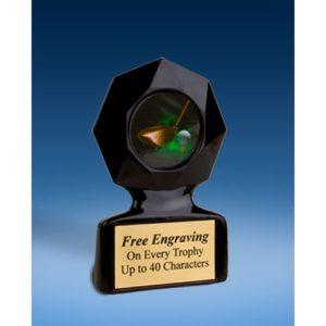 Golf Black Star Acrylic Trophy