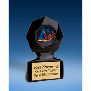 Gymnastics Female Black Star Acrylic Trophy