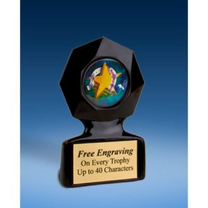 Most Improved Black Star Acrylic Trophy