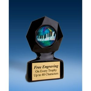 Music 2 Black Star Acrylic Trophy