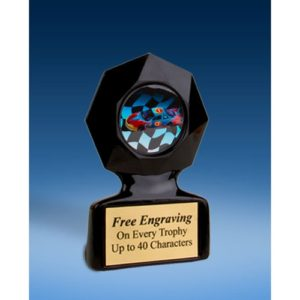 Racing Black Star Acrylic Trophy