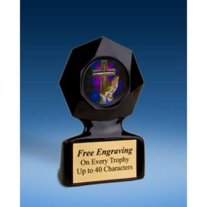 Religious Black Star Acrylic Trophy