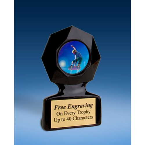 Skateboarding Black Star Acrylic Trophy