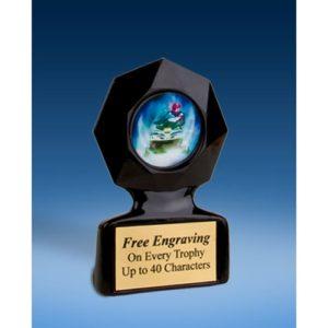 Snowmobile Black Star Acrylic Trophy