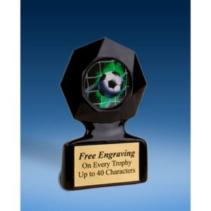 Soccer Black Star Acrylic Trophy