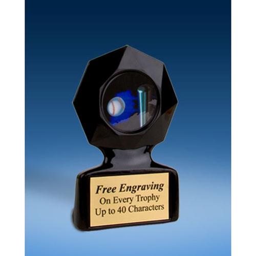 Softball Black Star Acrylic Trophy