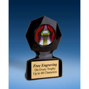 Speech Black Star Acrylic Trophy