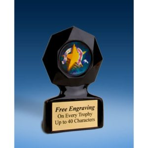 Sportsmanship Black Star Acrylic Trophy