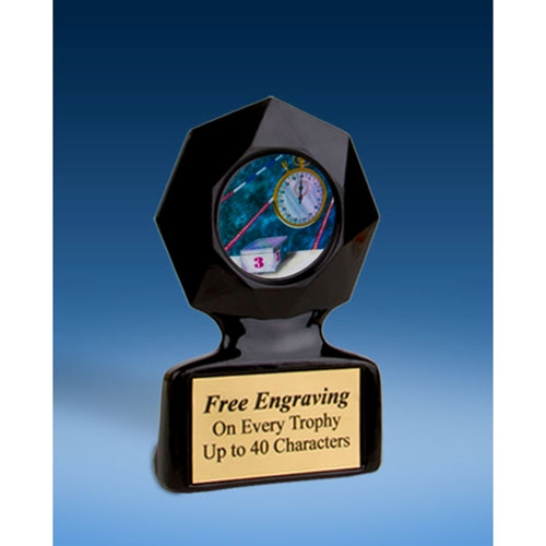 Swimming Black Star Acrylic Trophy