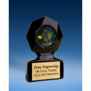 Tennis Black Star Acrylic Trophy