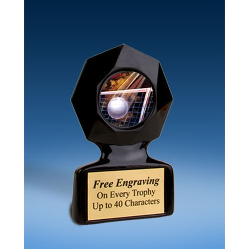 Volleyball Black Star Acrylic Trophy