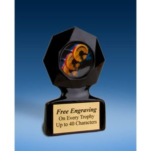 Weightlifting Black Star Acrylic Trophy